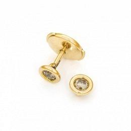 Ohrstecker Fairtrade Roségold mit Diamanten