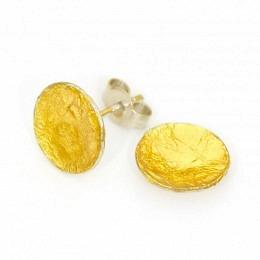 Ohrstecker Silber Blattgold