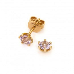 Ohrstecker Fairtrade Rotgold mit Spinell