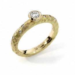 Verlobungsring Fairtrade Gelbgold Brillant