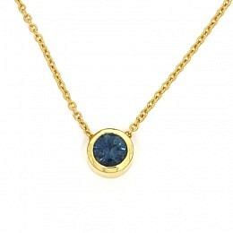 Collier Fairtrade Gelbgold Saphir